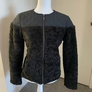 NWT Prana Black Quilted / Faux Fur Jacket